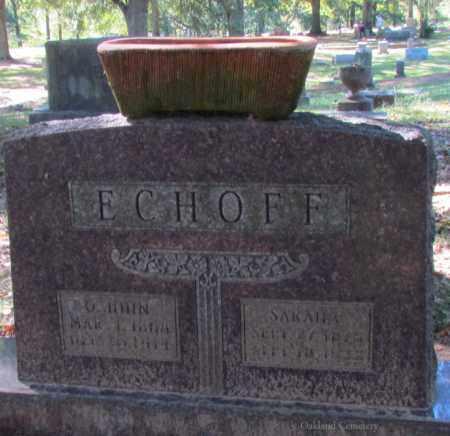 ECHOFF, SARAH C - Bradley County, Arkansas   SARAH C ECHOFF - Arkansas Gravestone Photos