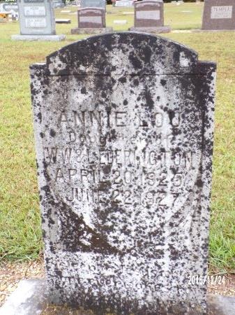 EDERINGTON, ANNIE LOU - Bradley County, Arkansas   ANNIE LOU EDERINGTON - Arkansas Gravestone Photos