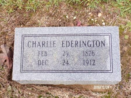 EDERINGTON, CHARLIE - Bradley County, Arkansas | CHARLIE EDERINGTON - Arkansas Gravestone Photos