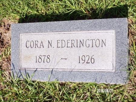 EDERINGTON, CORA - Bradley County, Arkansas | CORA EDERINGTON - Arkansas Gravestone Photos