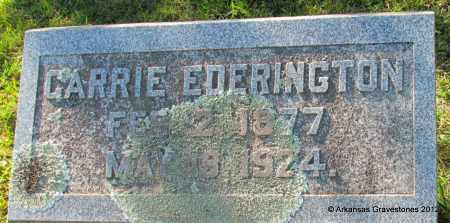 EDERINGTON, CARRIE - Bradley County, Arkansas   CARRIE EDERINGTON - Arkansas Gravestone Photos