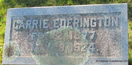 EDERINGTON, CARRIE - Bradley County, Arkansas | CARRIE EDERINGTON - Arkansas Gravestone Photos