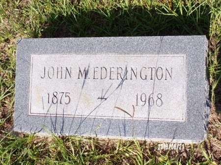 EDERINGTON, JOHN MADISON - Bradley County, Arkansas | JOHN MADISON EDERINGTON - Arkansas Gravestone Photos