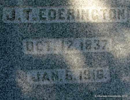 EDERINGTON, J T (CLOSEUP) - Bradley County, Arkansas   J T (CLOSEUP) EDERINGTON - Arkansas Gravestone Photos