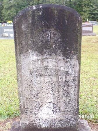 EDERINGTON, LILLIS A - Bradley County, Arkansas   LILLIS A EDERINGTON - Arkansas Gravestone Photos