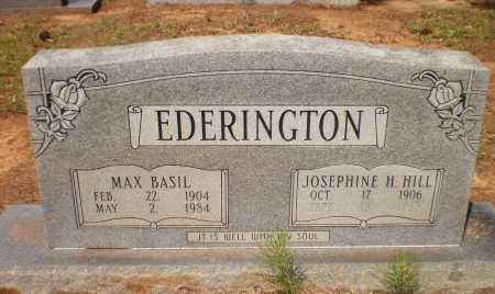 EDERINGTON, JOSEPHINE H - Bradley County, Arkansas | JOSEPHINE H EDERINGTON - Arkansas Gravestone Photos