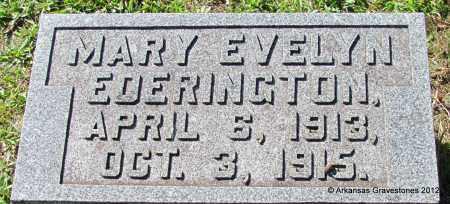 EDERINGTON, MARY EVELYN - Bradley County, Arkansas   MARY EVELYN EDERINGTON - Arkansas Gravestone Photos