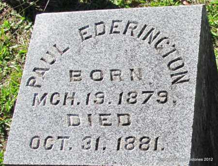 EDERINGTON, PAUL - Bradley County, Arkansas   PAUL EDERINGTON - Arkansas Gravestone Photos