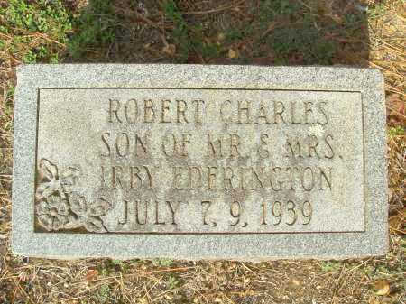 EDERINGTON, ROBERT CHARLES - Bradley County, Arkansas   ROBERT CHARLES EDERINGTON - Arkansas Gravestone Photos