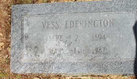 EDERINGTON, VESS - Bradley County, Arkansas | VESS EDERINGTON - Arkansas Gravestone Photos
