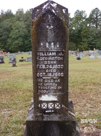 EDERINGTON, WILLIAM J - Bradley County, Arkansas | WILLIAM J EDERINGTON - Arkansas Gravestone Photos