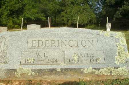EDERINGTON, MATTIE - Bradley County, Arkansas   MATTIE EDERINGTON - Arkansas Gravestone Photos