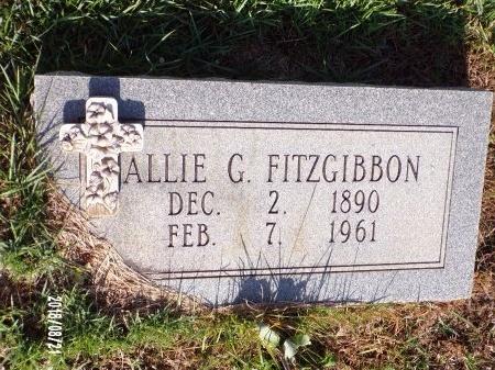 GOSSIEN FITZGIBBON, ALLIE - Bradley County, Arkansas | ALLIE GOSSIEN FITZGIBBON - Arkansas Gravestone Photos