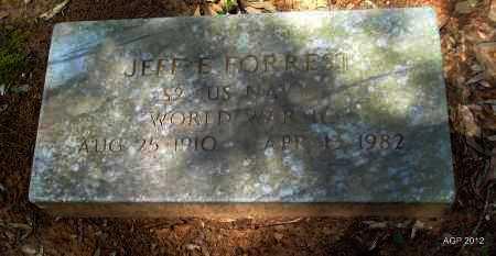 FORREST (VETERAN WWII), JEFFE E - Bradley County, Arkansas   JEFFE E FORREST (VETERAN WWII) - Arkansas Gravestone Photos