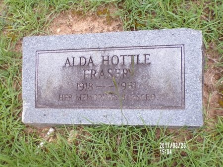 HOTTLE FRASER, ALDA - Bradley County, Arkansas | ALDA HOTTLE FRASER - Arkansas Gravestone Photos