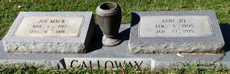 GALLOWAY, ANN JO - Bradley County, Arkansas   ANN JO GALLOWAY - Arkansas Gravestone Photos