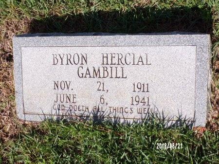 GAMBILL, BYRON HERCIAL - Bradley County, Arkansas   BYRON HERCIAL GAMBILL - Arkansas Gravestone Photos