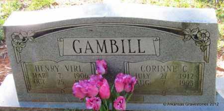 GAMBILL, HENRY VIRL - Bradley County, Arkansas | HENRY VIRL GAMBILL - Arkansas Gravestone Photos
