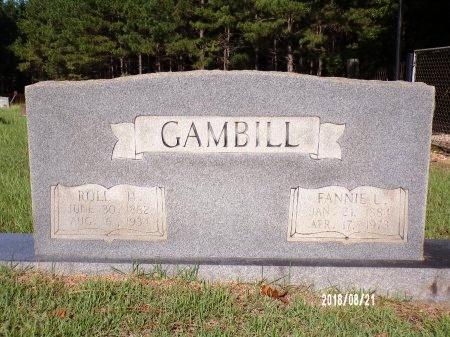 GAMBILL, FANNIE LUCRETIA - Bradley County, Arkansas | FANNIE LUCRETIA GAMBILL - Arkansas Gravestone Photos