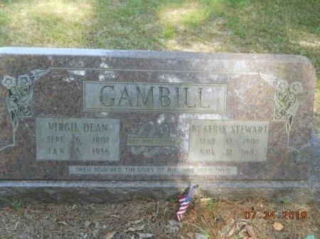 GAMBILL, BEATRIX - Bradley County, Arkansas | BEATRIX GAMBILL - Arkansas Gravestone Photos