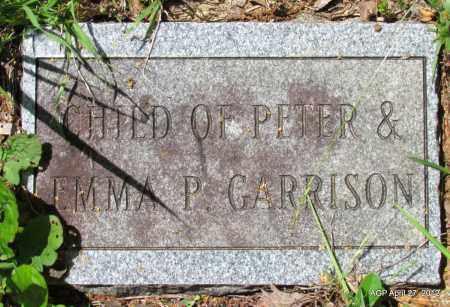 GARRISON, CHILD - Bradley County, Arkansas   CHILD GARRISON - Arkansas Gravestone Photos