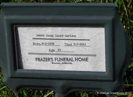 GARRISON, DONNA CAROL - Bradley County, Arkansas | DONNA CAROL GARRISON - Arkansas Gravestone Photos