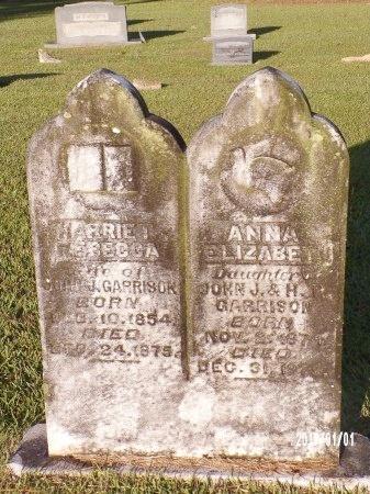 GARRISON, HARRIET REBECCA - Bradley County, Arkansas   HARRIET REBECCA GARRISON - Arkansas Gravestone Photos