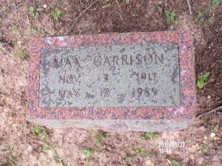 GARRISON, MAX - Bradley County, Arkansas | MAX GARRISON - Arkansas Gravestone Photos