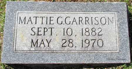 GARRISON, MATTIE G - Bradley County, Arkansas | MATTIE G GARRISON - Arkansas Gravestone Photos