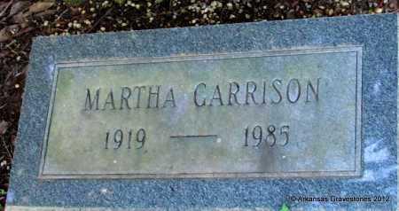 GARRISON, MARTHA - Bradley County, Arkansas | MARTHA GARRISON - Arkansas Gravestone Photos