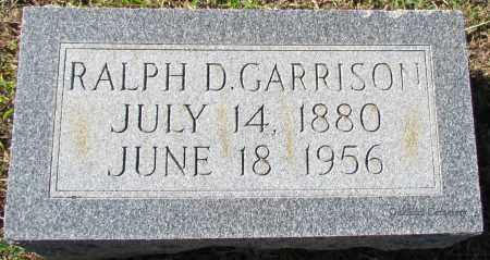 GARRISON, RALPH D - Bradley County, Arkansas   RALPH D GARRISON - Arkansas Gravestone Photos