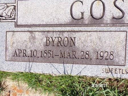 GOSSIEN, BYRON (CLOSE UP) - Bradley County, Arkansas | BYRON (CLOSE UP) GOSSIEN - Arkansas Gravestone Photos