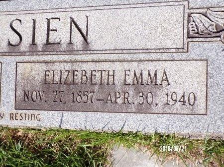 MAY GOSSIEN, ELIZEBETH EMMA (CLOSE UP) - Bradley County, Arkansas | ELIZEBETH EMMA (CLOSE UP) MAY GOSSIEN - Arkansas Gravestone Photos
