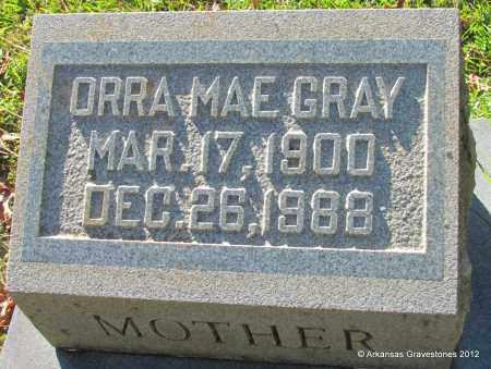 GRAY, ORRA MAE - Bradley County, Arkansas | ORRA MAE GRAY - Arkansas Gravestone Photos