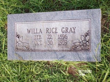 GRAY, WILLA - Bradley County, Arkansas | WILLA GRAY - Arkansas Gravestone Photos