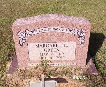 GREEN, MARGARET L - Bradley County, Arkansas | MARGARET L GREEN - Arkansas Gravestone Photos