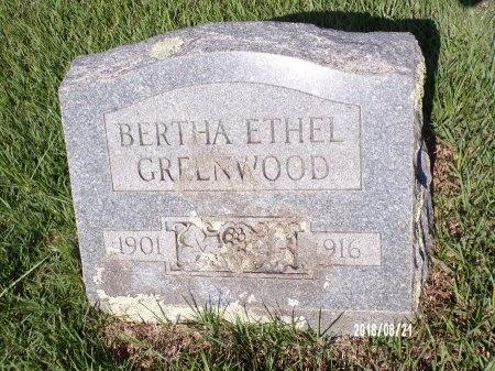 GREENWOOD, BERTHA ETHEL - Bradley County, Arkansas   BERTHA ETHEL GREENWOOD - Arkansas Gravestone Photos