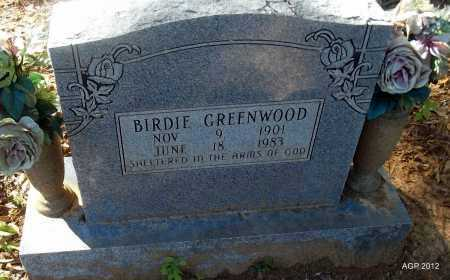 GREENWOOD, BIRDIE - Bradley County, Arkansas | BIRDIE GREENWOOD - Arkansas Gravestone Photos