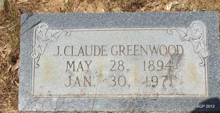 GREENWOOD, J CLAUDE - Bradley County, Arkansas | J CLAUDE GREENWOOD - Arkansas Gravestone Photos