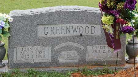 GREENWOOD, JOHN OLEN - Bradley County, Arkansas | JOHN OLEN GREENWOOD - Arkansas Gravestone Photos