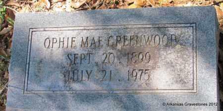 GREENWOOD, OPHIE MAE - Bradley County, Arkansas | OPHIE MAE GREENWOOD - Arkansas Gravestone Photos