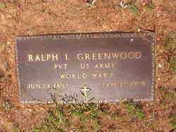 GREENWOOD (VETERAN WWI), RALPH L - Bradley County, Arkansas | RALPH L GREENWOOD (VETERAN WWI) - Arkansas Gravestone Photos