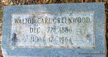 GREENWOOD, WALTON CARL - Bradley County, Arkansas   WALTON CARL GREENWOOD - Arkansas Gravestone Photos