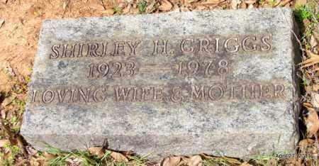 GRIGGS, SHIRLEY H - Bradley County, Arkansas | SHIRLEY H GRIGGS - Arkansas Gravestone Photos