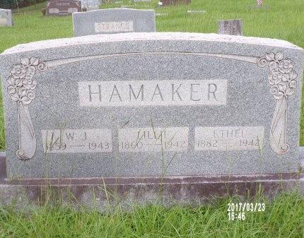 HAMAKER, WILLIAM JEFFERSON - Bradley County, Arkansas | WILLIAM JEFFERSON HAMAKER - Arkansas Gravestone Photos