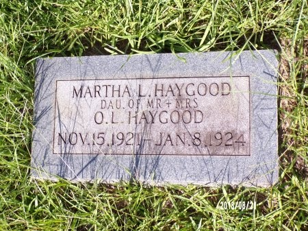 HAYGOOD, MARTHA L - Bradley County, Arkansas | MARTHA L HAYGOOD - Arkansas Gravestone Photos
