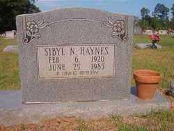 HAYNES, SIBYL N - Bradley County, Arkansas | SIBYL N HAYNES - Arkansas Gravestone Photos