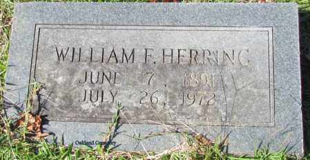 HERRING, WILLIAM F - Bradley County, Arkansas | WILLIAM F HERRING - Arkansas Gravestone Photos