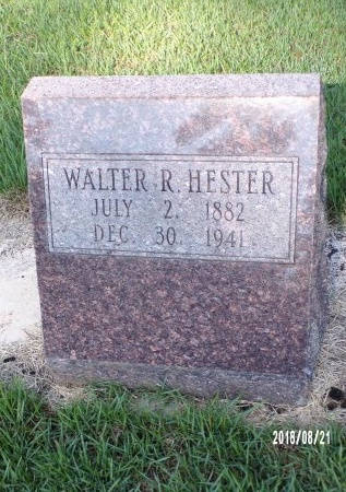 HESTER, WALTER R - Bradley County, Arkansas | WALTER R HESTER - Arkansas Gravestone Photos