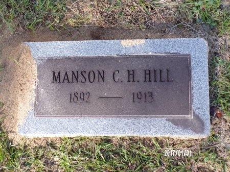 HILL, MANSON C H - Bradley County, Arkansas   MANSON C H HILL - Arkansas Gravestone Photos